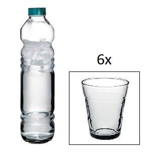 Butelka  Vita 1,1 L + 6 szklanek  Basic 235 ml