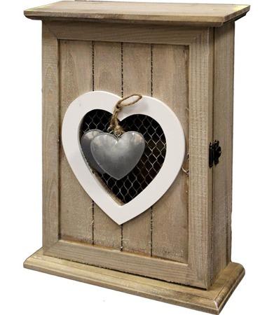 Skrzynka na klucze drewniana 30x22x8