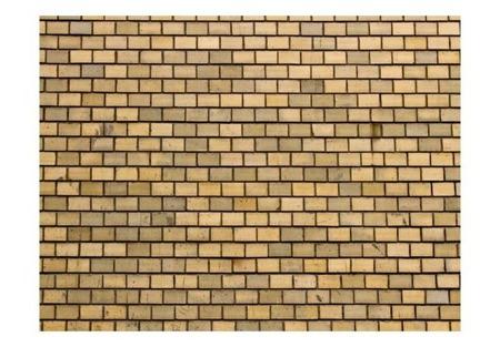 Fototapeta - Brick wall in beige color