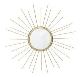 Duże Złote Lustro Dekoracyjne Słońce, Metal h:40cm