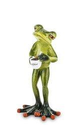 Figurka Żaba O poranku z Kawą wys.17 cm