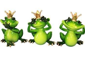 Figurka Żaba nic złego nie mówię, widzę, słyszę