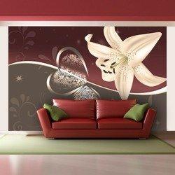Fototapeta - Kremowa lilia