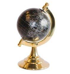 Globus mosiężno - plastikowy czarny H:20 cm