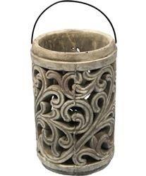 Lampion Ceramiczny Gaja Ozdobny H:25cm