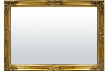 Lustro prostokątne złote drewno 72x102x3 cm