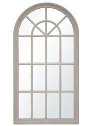 Lustro stylowe prowansalskie w szarej ramie 130x69