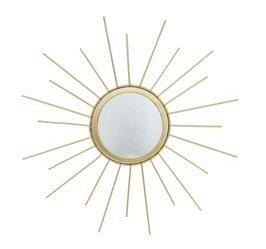 Małe Złote Lustro Dekoracyjne Słońce, Metal h:30cm
