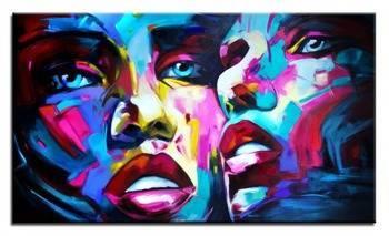 Obraz - Abstrakcje - olejny, ręcznie malowany 160x95cm