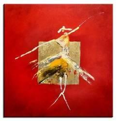 Obraz - Abstrakcje - olejny, ręcznie malowany 60x60cm