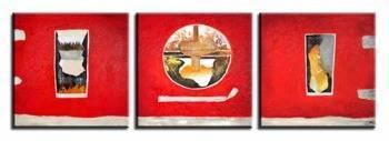 Obraz - Abstrakcje - olejny, ręcznie malowany 60x60cm x 3