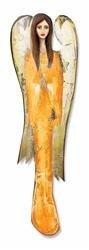 """Obraz """"Anioły"""" ręcznie malowany 52x15cm"""