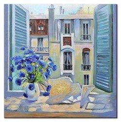 """Obraz """"Architektura"""" ręcznie malowany 60x60cm"""