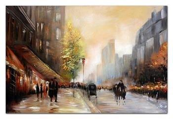 """Obraz """"Architektura"""" ręcznie malowany 60x90cm"""