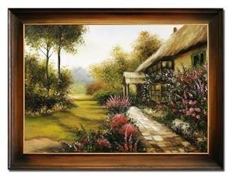 """Obraz """"Architektura"""" ręcznie malowany 64x84cm"""