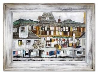 """Obraz """"Architektura"""" ręcznie malowany 86x116cm"""