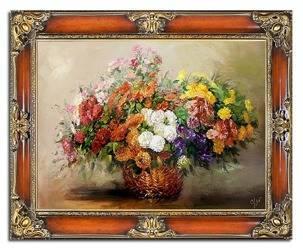 """Obraz """"Bukiety mieszane """" ręcznie malowany 75x95cm"""