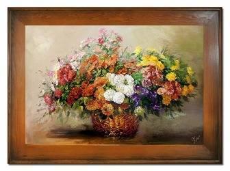 """Obraz """"Bukiety mieszane """" ręcznie malowany 82x112cm"""