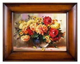 """Obraz """"Bukiety mieszane """" ręcznie malowany 87x117cm"""