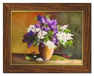 """Obraz """"Bzy"""" ręcznie malowany 37x47cm"""