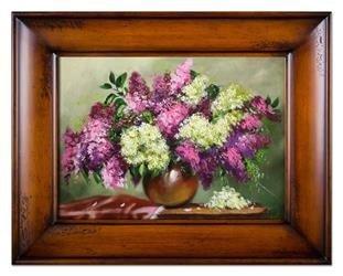 """Obraz """"Bzy"""" ręcznie malowany 87x117cm"""