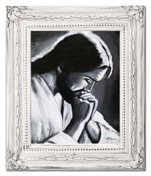 """Obraz """"Chrystus"""" ręcznie malowany 27x32cm"""