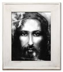 """Obraz """"Chrystus"""" ręcznie malowany 59x69cm"""