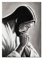 """Obraz """"Chrystus"""" ręcznie malowany 60x90cm"""