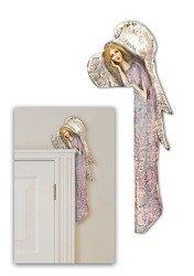Obraz Duży Anioł Na Desce Nad Drzwi Biało - Różowy