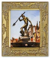 """Obraz """"Gdańsk"""" ręcznie malowany 27x32cm"""