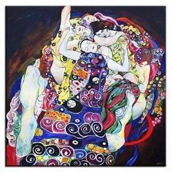 """Obraz """"Gustaw Klimt"""" ręcznie malowany 130x130cm"""
