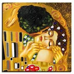 """Obraz """"Gustaw Klimt"""" ręcznie malowany 60x60cm"""