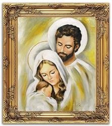 """Obraz """"Inne- religijne"""" ręcznie malowany 54x64cm"""