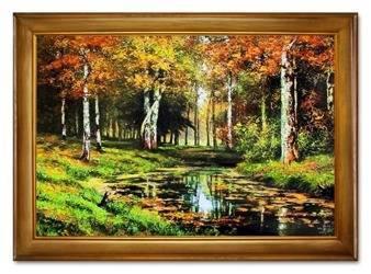 """Obraz """"Iwan Iwanowicz Szyszkin """" ręcznie malowany 75x105cm"""