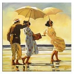 """Obraz """"Jack Vettriano"""" ręcznie malowany 60x60cm"""