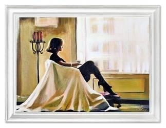 """Obraz """"Jack Vettriano"""" ręcznie malowany 63x84cm"""