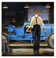 """Obraz """"Jack Vettriano"""" ręcznie malowany 90x90cm"""
