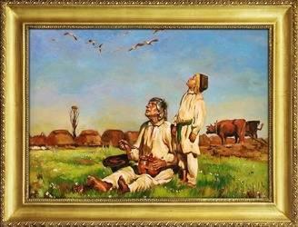 Obraz - Józef Chełmoński - olejny, ręcznie malowany 64x84cm