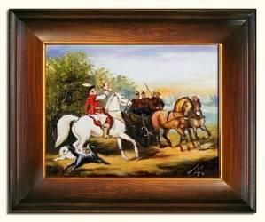 Obraz - Juliusz i Wojciech Kossakowie - olejny, ręcznie malowany 37x47cm