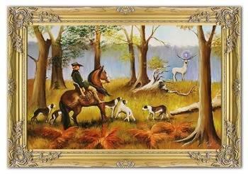 Obraz - Juliusz i Wojciech Kossakowie - olejny, ręcznie malowany 75x105cm