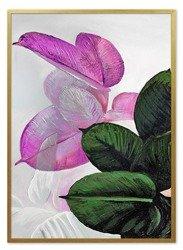 """Obraz """"Kwiaty nowoczesne"""" - olejny, ręcznie malowany 53x73cm"""