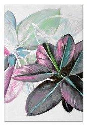 """Obraz """"Kwiaty nowoczesne"""" - olejny, ręcznie malowany 60x90cm"""