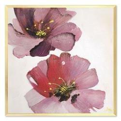 """Obraz """"Kwiaty nowoczesne"""" ręcznie malowany 63x63cm"""