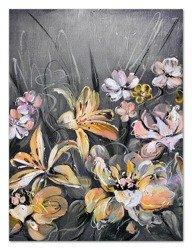 """Obraz """"Kwiaty nowoczesne"""" ręcznie malowany 90x120cm"""