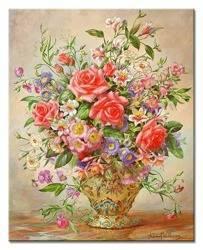"""Obraz """"Kwiaty"""" reprodukcja 50x40cm"""