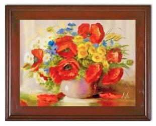 """Obraz """"Maki"""" ręcznie malowany 37x47cm"""