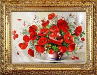"""Obraz """"Maki"""" ręcznie malowany 70x90cm"""