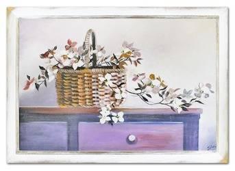 """Obraz """"Martwa natura nowoczesna"""" ręcznie malowany 75x105cm"""