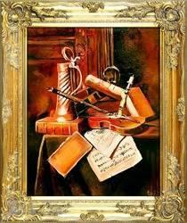 """Obraz """"Martwa natura tradycyjna"""" ręcznie malowany 53x64cm"""