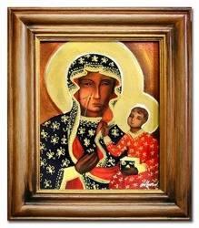 """Obraz """"Maryja"""" ręcznie malowany 35x40cm"""